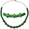 Náhrdelník zelený s žíháním