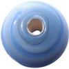 Světle modrý žíhaný korálek