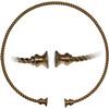 Bronzový stáčený torques I.