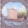 Plakát A4: Vikingská loď (drakkar)